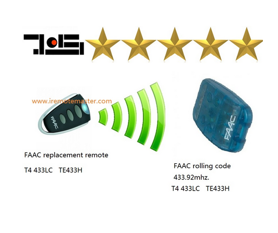 For Faac Remote rolling code, 433,92 MHz