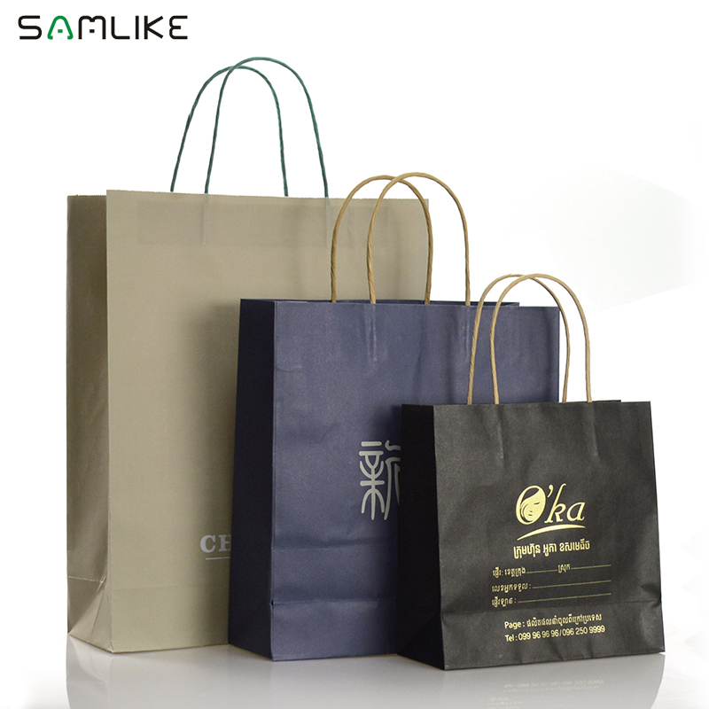 6ae92fa35d8 Wholesale Promotion Kraft Coffee Paper Bag Manufacturer Shopping Khaki Wine  Grocery Paper Bag With Handle, View khaki paper bag, Samlike Product  Details ...