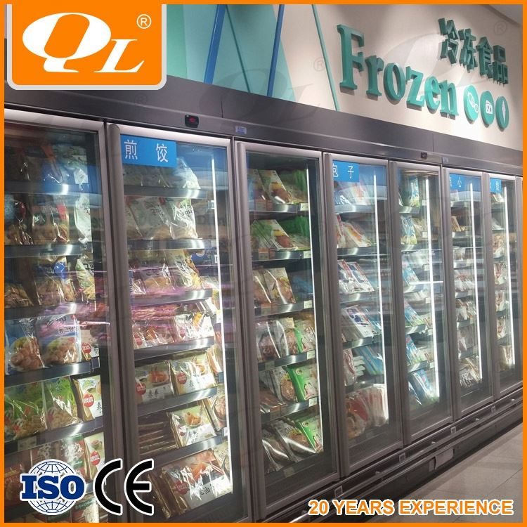 Open Multideck Showcase factory OEM customized supermarket refrigeration equipment used refrigerators in germany