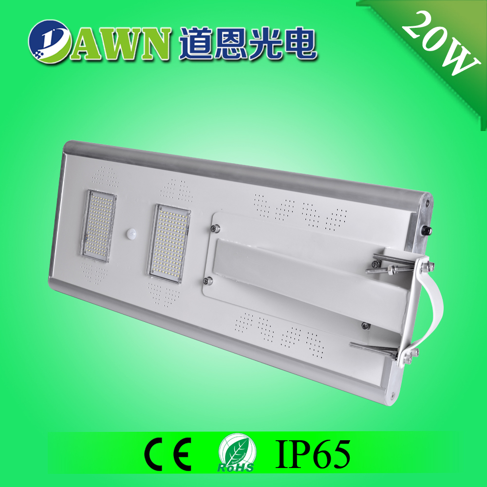 20W IP65 long lifespan integrated all in one solar led street light street marketing