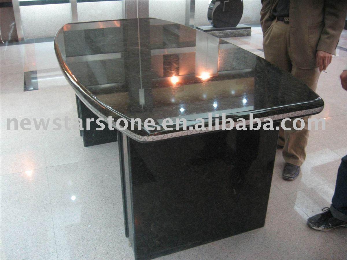 Tampo em granito mesa mesa de escritório preto Cadeiras de jantar ID  #776054 1200x900