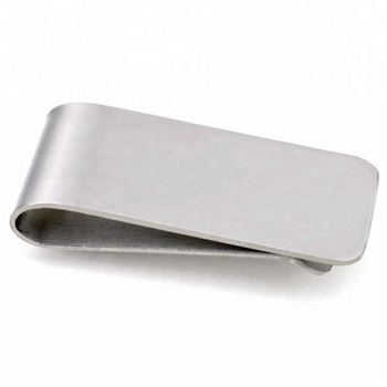 Wholesale custom stainless steel cool blank metal money clips for men