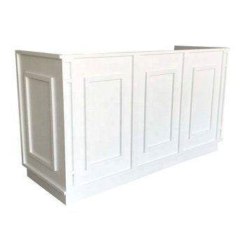 American white quality oak dj booth table event bar counter