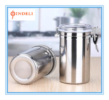 2016 stainless steel kitchen storage jar / storage box / canister set