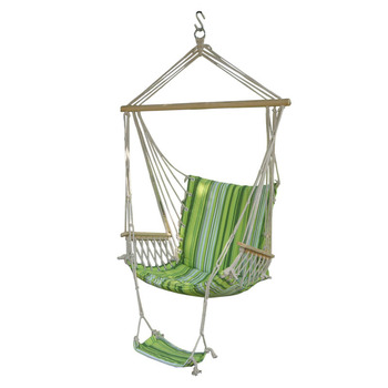 Cotton Hanging Hammock Swing Chair With Arm Rest Travel Outdoor Leisure  Portable Durable Hammock Chair With