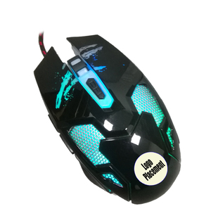 Factory oem branded mouse rgb breath color optical wired usb 6d body  plastic game mouse with custom logo