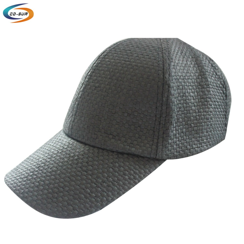 new style blank hand Weave 6 panel baseball straw cap hat