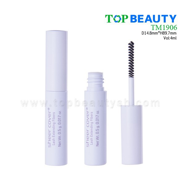 TM1906-1 Fashionable White Transparent Mascara Tube