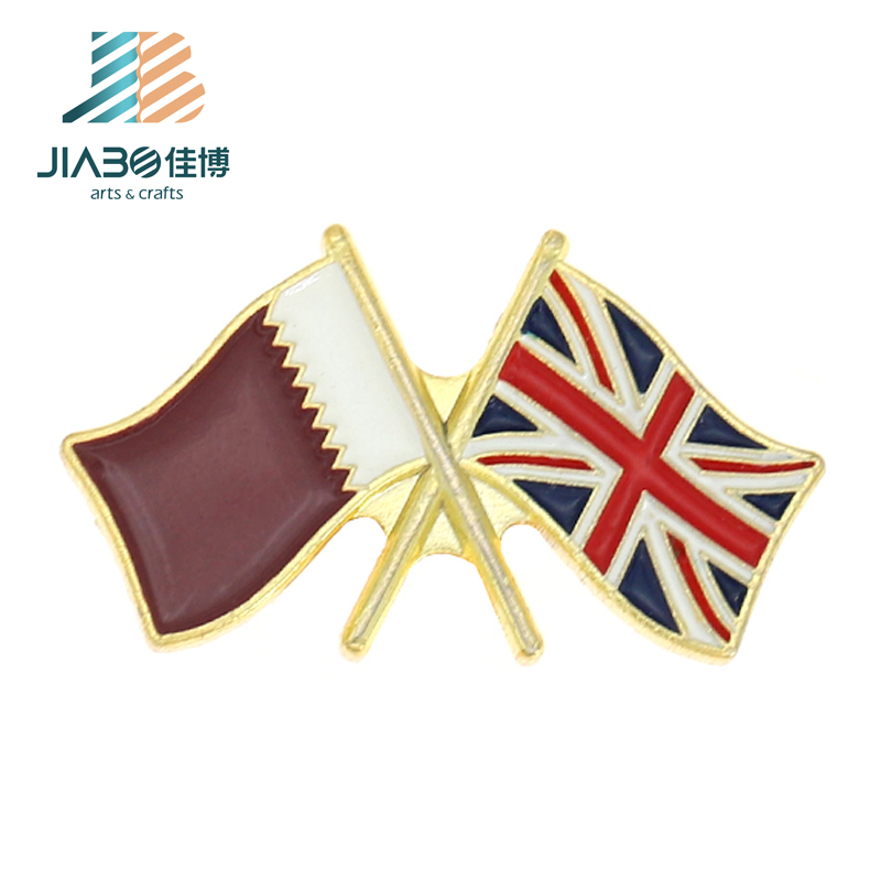 Cheap Wholesale Gold Soft Enamel Metal Custom Uk And Qatar Double Flag  Lapel Pins - Buy Double Flag Lapel Pins,Flag Badge,Uk Flag Lapel Pin  Product on