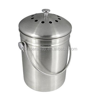 amazon hot sale stainless steel compost bin kitchen composter
