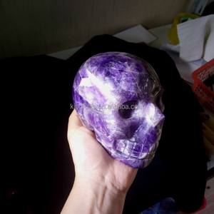 Natural dream purple quartz crystal skull to ward off evil spirits