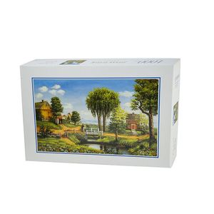 Good quality brain developing green tree printed 1000 pcs popular jigsaw puzzles
