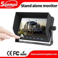 7inch TFT LCD touch button Car Rear View VCR DVD CCTV Reversing Camera Monitor