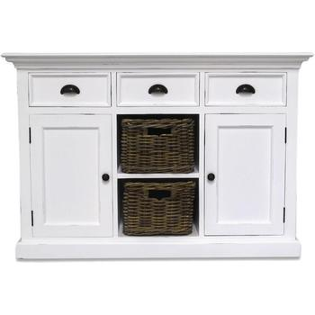 Antique Shabby Chic White Painted Sideboards And Buffets With 3