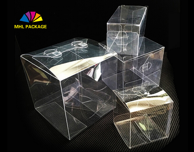 ready goods small clear hard plastic gift packaging boxes