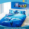 Natural Hot sale animal 100% cotton reactive 3d printed bedding set Duvet cover sheets & pillowcase in China