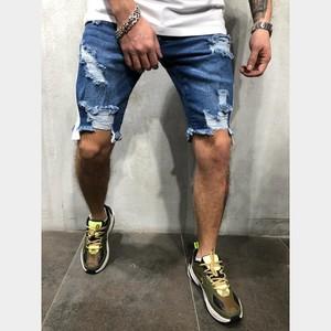 Summer Denim Shorts Male Jeans Men Shorts Bermuda Skate Board Harem Mens Jogger Ripped Jean Y11768