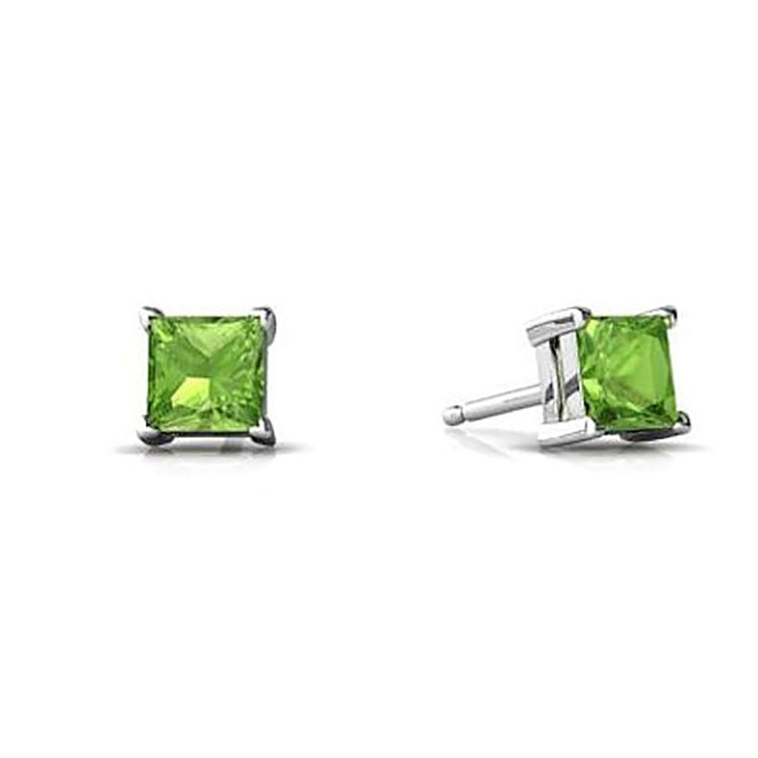 Kolczyki i klipsy 4mm-10mm Square Casting Stud Earrings .925 Sterling Silver Three Colors