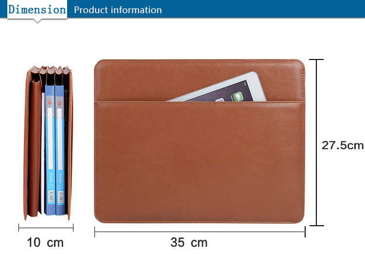 SN-M-015 Pu leather car office document holder / car document organizer