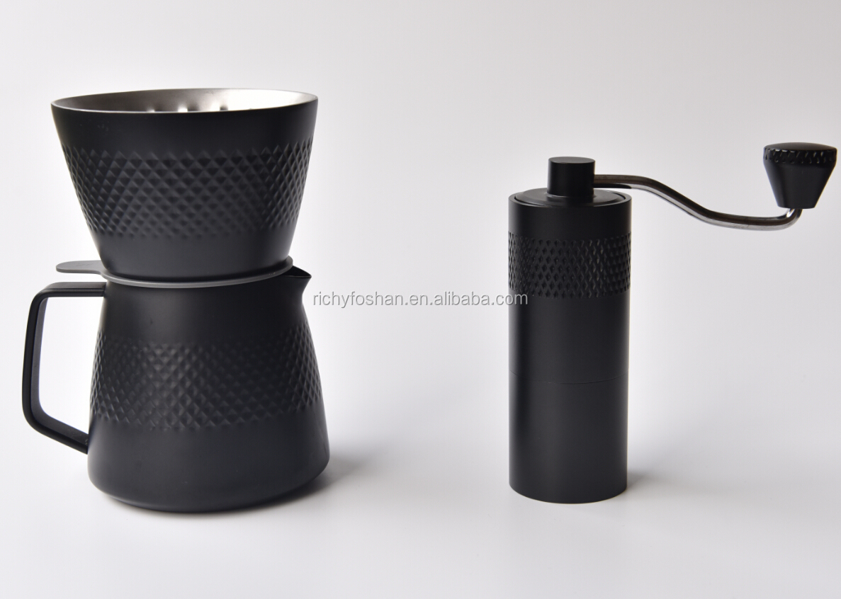 Manual coffee grinder hard bean mill with flexible grind size adjustment