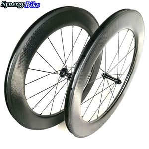 Synergy bike dimple wheels U shape 25mm width 80mm carbon bicycle clincher dimple wheels 700c for bike carbon wheels 80mm