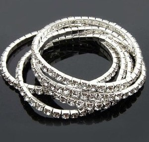 New arrival Fashion jewel stretch Crystal bracelet set