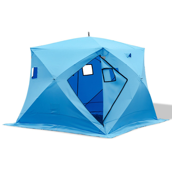 High Quality Blue Portable Waterproof Winter Camping Keep Warm Ice Fishing Shelter Tent With 300d Oxford Fabric