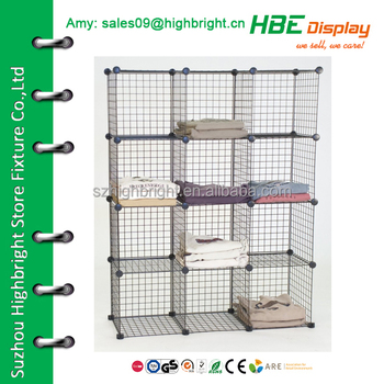 Collapsible Wire Mesh Storage Grid Cube Unit
