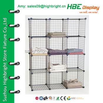 Merveilleux Collapsible Wire Mesh Storage Grid Cube Unit