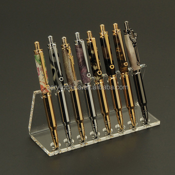 Custom acrylic brush holder,pocket pen holder pencil display stand for office supply,acrylic pen holder
