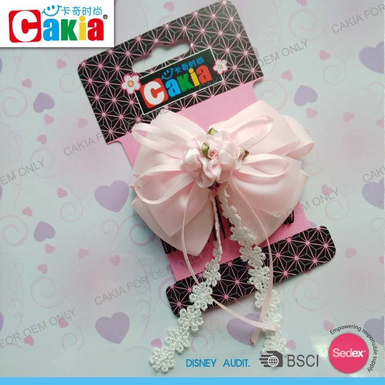 Fancy cute new hair styles baby boutique wholesale metal hair claw clip with hair bows