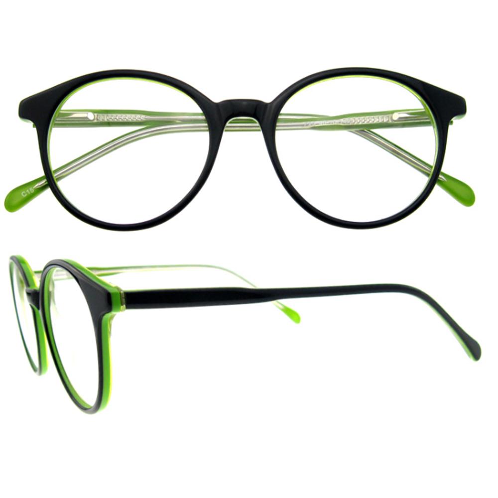 Lila acetat runde brille orange federscharnier europäischen stil ...