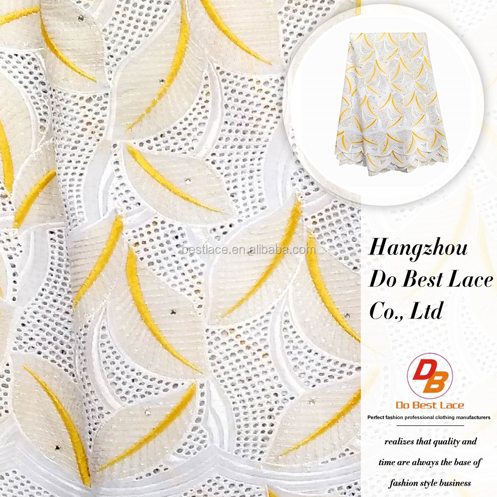 China market wholesale cotton swiss voile cord lace fabric