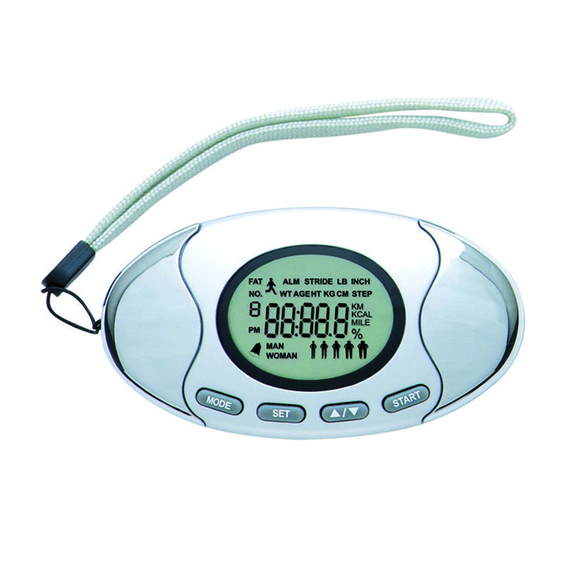Electronic Calorie Pedometer with step counter, Silver