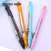 Korean 2018 Hot sale kawaii school stationery fashionable design plastic plane shaped ball-point pen with logo
