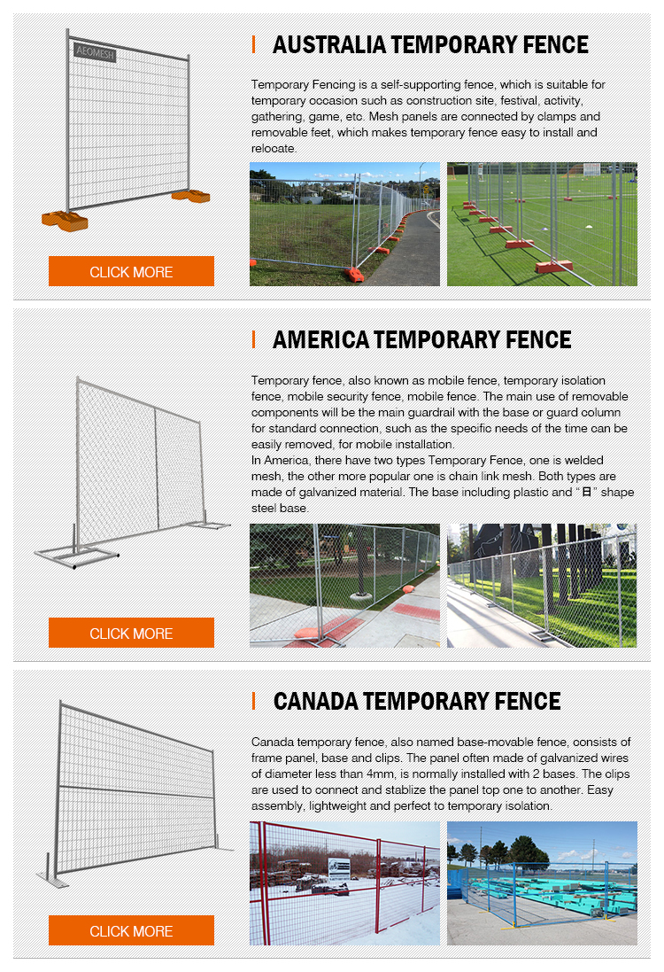 Canton Factory chain link temporary fence or welded temporary fence