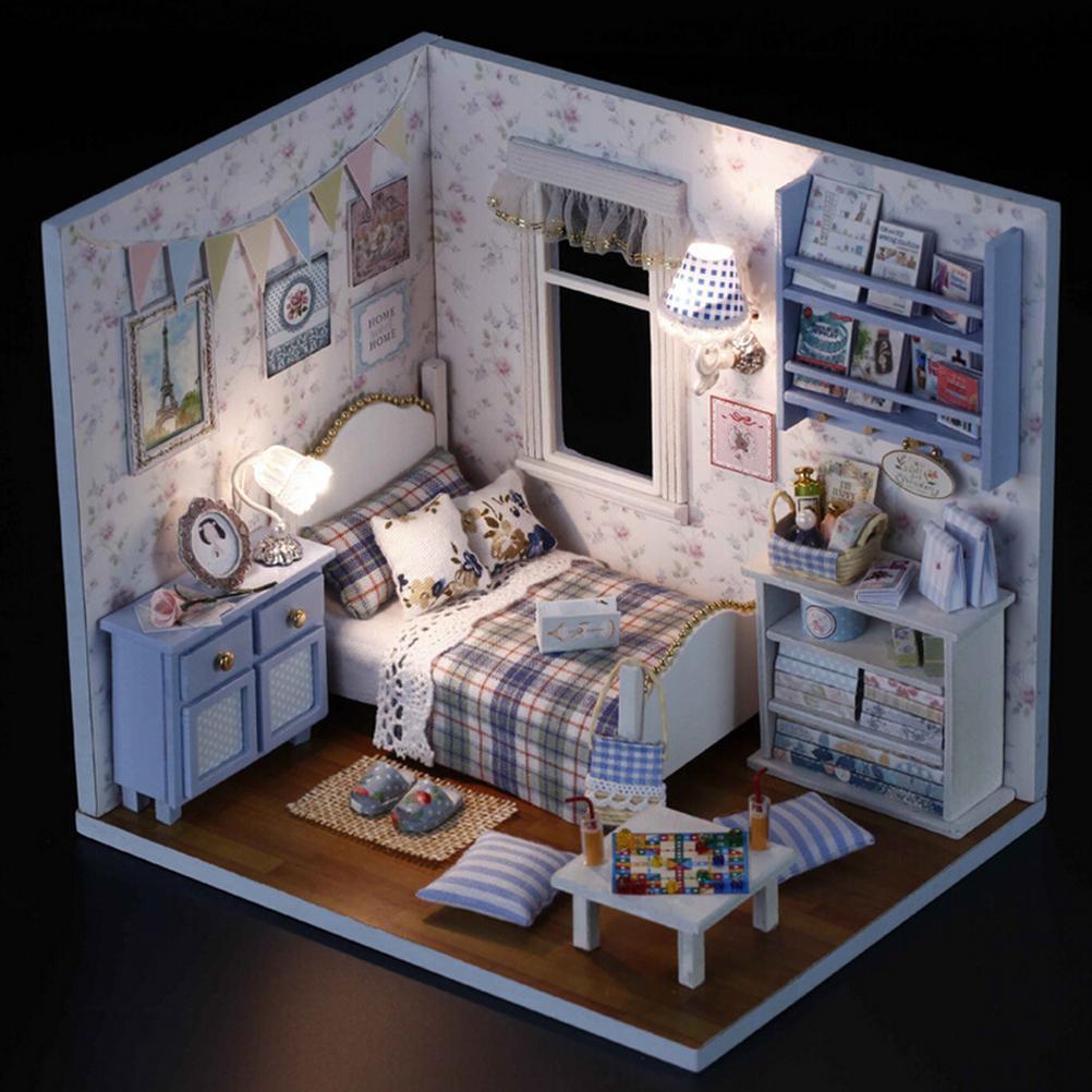 Wholesale Handmade 3D Miniature Dollhouse Wood Educational