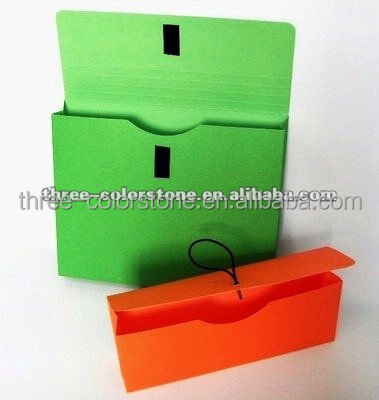 Recycled Paper File Wallets, Assorted Colors, Velcro Closure