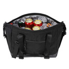 Insulated Lunch Bag Tote with Shoulder Strap Leakproof Cooler Bag for Men and Women, 15 Can, Black
