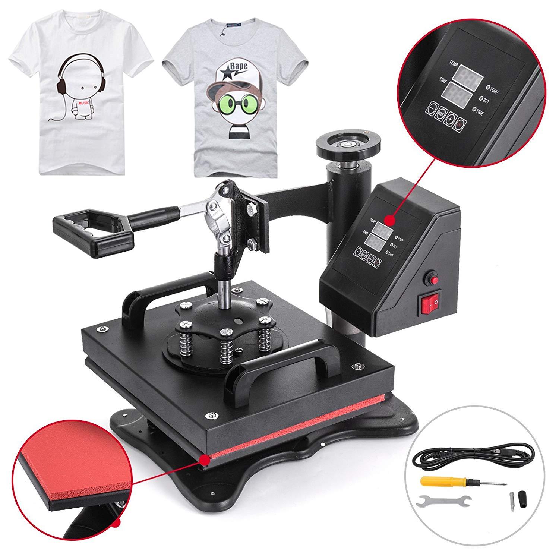 """VEVOR Heat Press 12"""" X 10"""" Swing Away Heat Press Machine Daul Digital Display Heat Press Machine for T-Shirt Sublimation Transfer Machine (12x10"""")"""