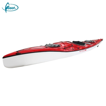 Hot selling angler polyethylene boats single canoe touring sea china plastic kayak