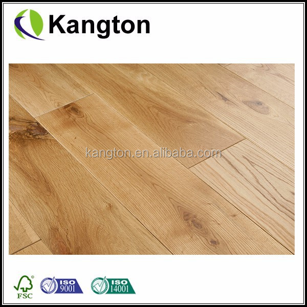 China Kangton Cheap Hot Sale Solid Oak Rustic 150mm Brushed Oiled