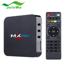 Joinwe Hot selling 4k support ott tv box amlogic s905 quad core android mx pro tv box