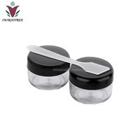 50pcs/lot 5g eyelash glue container ,acrylic cosmetic cream pot , colorful small lids for eye shadow jars