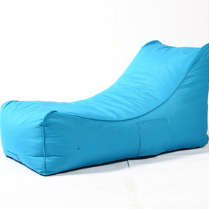 Wholesale Blue Color Moon Shaped Bean Bag Chaise Lounge,Waterproof Bean Bag Chair Outdoor