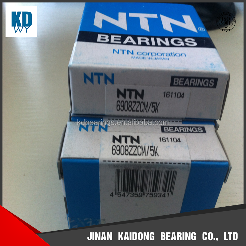 Japan NTN deep groove ball bearings 6908ZZCM /5K 6908 FAG 6908 SKF 6908 excellent quality high speed