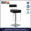 Mirrored bar stool with stainless base