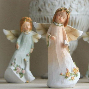 resin crafts decorative home ornament baby girl angel figurines