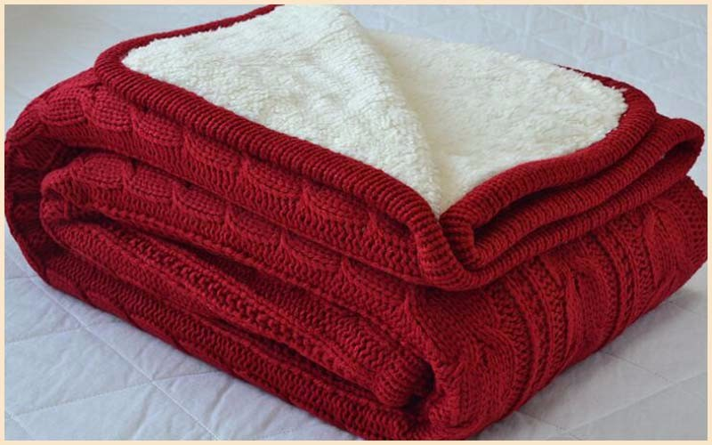 Wholesale Cosy Bed Throw Chunky Knit Blanket