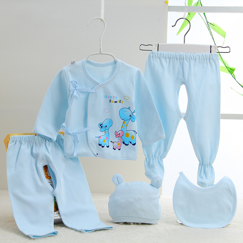 2016 cartoon newborn new born rompers jumps cotton baby babysuits brand boys and girls suits set 5 pieces clothing clothes